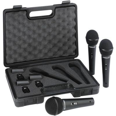 BEHRINGER ULTRAVOICE XM1800S 3 PACK Kit 3 microfoni Karaoke DJ valigetta inclusa