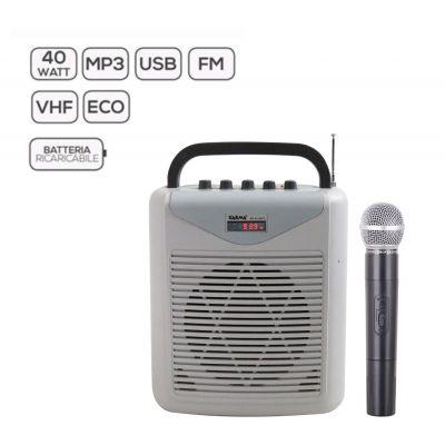 KARMA - BM 861MP3 - Diffusore amplificato con radiomicrofono
