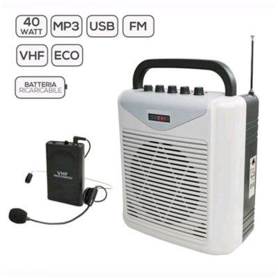 KARMA BM 861MP3LAV Diffusore amplificato portatile con radiomicrofono Archetto 40W