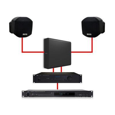 Apart Kit Filodiffusione Stereo 2 MASK2 Black / 1 SUBLIME Black 260W