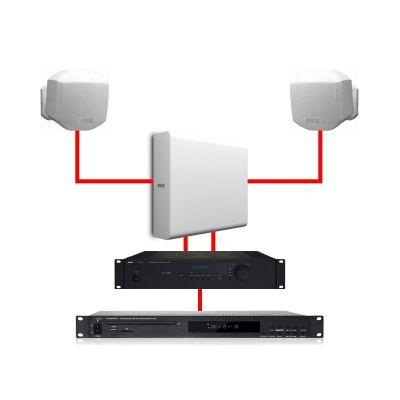 Apart Impianto Filodiffusione Stereo 2 MASK2 White / 1 SUBLIME White 260W