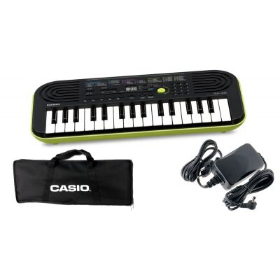 CASIO Set SA46 Tastiera 32 Tasti Mini / Minibag / Alimentatore Bundle
