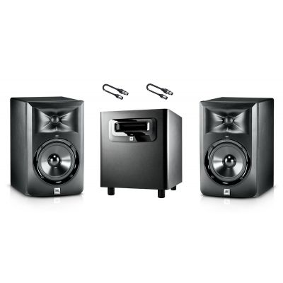 JBL Set Monitor da Studio LSR 305 / Subwoofer / Cavi Audio XLR/XLR 5mt Bundle