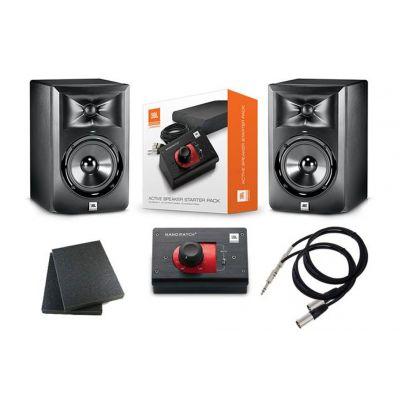 JBL Coppia LSR 305 con Active Speaker Starter Pack