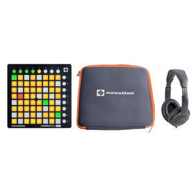 Novation Launchpad Mini MKII, MK2, DJ SET Custodia Originale e Cuffie