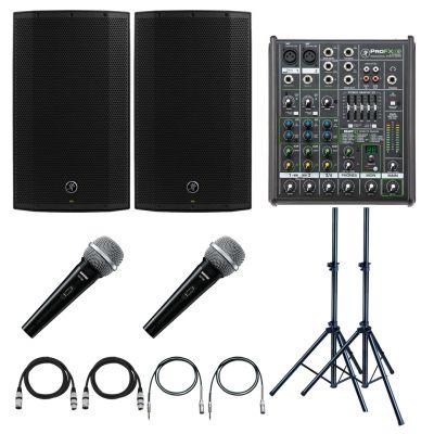 Mackie Thump 12A Impianto Audio 2600W con Mixer + 2 Microfoni per Karaoke DJ