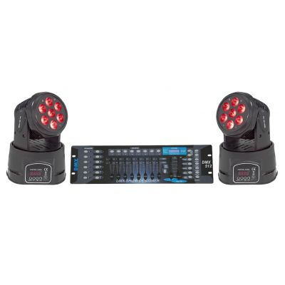 SOUNDSATION KIT PARTY Coppia Teste Mobili 7 LED Quad Wash da 10W RGBW con DMX512
