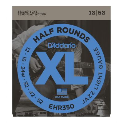 D'ADDARIO EHR350 - Muta per Elettrica Jazz Light Half Round (012/052)