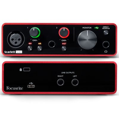 Focusrite Scarlett Solo 3rd Gen Scheda Interfaccia Audio MIDI USB 2in/2out