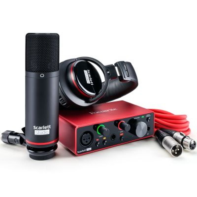 Focusrite Scarlett Solo Studio 3rd Gen bundle Scheda Interfaccia Audio MIDI USB