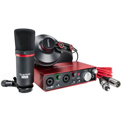 Focusrite Scarlett 2i2 Studio 2nd Generation Bundle Scheda Interfaccia Audio MIDI USB
