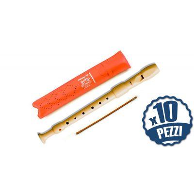 HOHNER 9516 - 10 Flauti Dolci Soprano Bundle Speciale Scuola