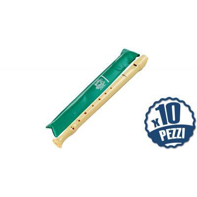 HOHNER 9509 - 10 Flauti Dolci in Do Diteggiatura Barocca Bundle Speciale Scuola