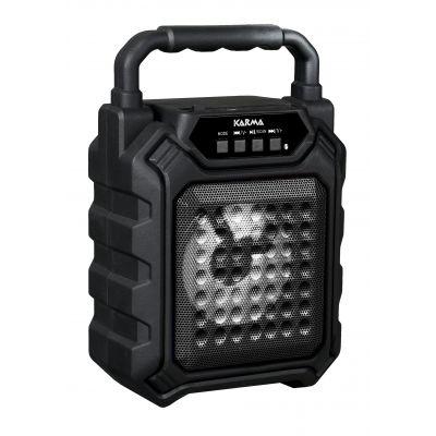 KARMA B4 Diffusore Cassa Monitor Amplificato 25w Ricaricabile SD, MP3, FM Bluetooth