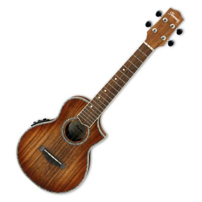 Ibanez UEW36E Light Brown Sunburst - Ukulele Concert