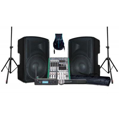 ZZIPP Sistema Audio DJ Impianto Completo per Karaoke 320W