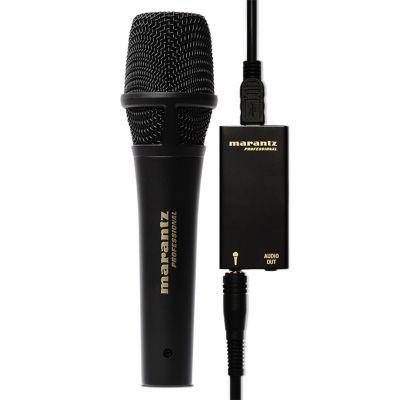 Marantz M4U Microfono Usb con Supporto e Cavo per Computer Streaming Live Podcast