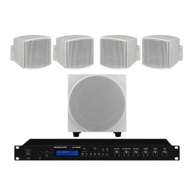 Monacor Sistema Impianto Audio Filodiffusione 170W da interno parete muro