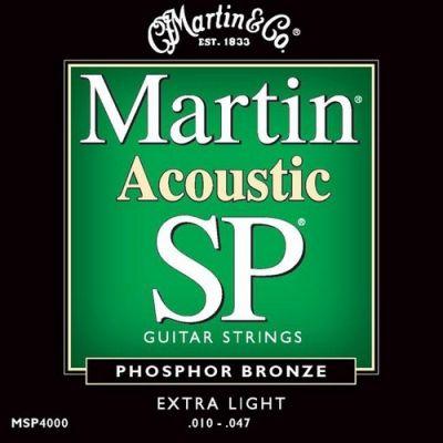 MARTIN MSP4000 Muta Completa per Chitarra Acustica Extra Light (10-47)