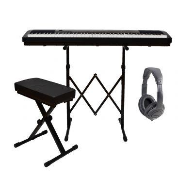 Roland FP30BK Set - Pianoforte Digitale Nero / Cuffia / Panchetta / Stand