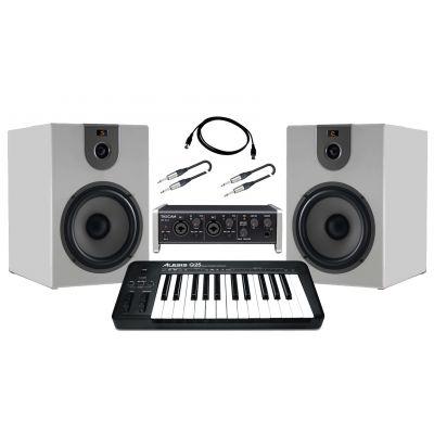 Producer Pack Beginner Scheda audio usb / Monitor da studio 360W / Controller midi Bundle