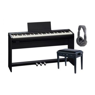 Roland FP30BK Pianoforte Digitale Nero / Cuffia / Panchetta / Stand / Pedaliera