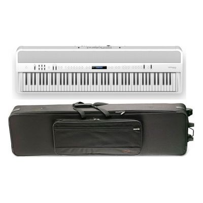 ROLAND FP90WH Pianoforte Digitale Bianco con Case Semi-Rigido Compatibile
