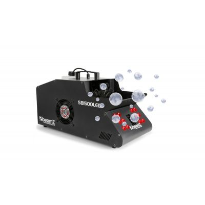 Beamz SB 1500 LED Macchina Fumo Bolle di sapone professionale 1500W con LED DJ