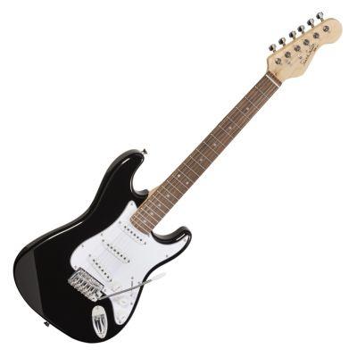 Soundsation Chitarra Elettrica 3/4 Tipo Stratocaster Black