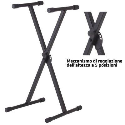 Supporto Tastiera Musicale Stand pianola regolabile a X