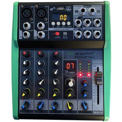 ZZIPP ZZMXBTE4 Mixer USB MP3 BT DJ Studio Karaoke