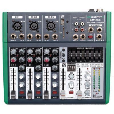 ZZIPP ZZMXE5 Mixer 5 Canali con DSP