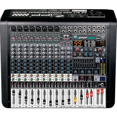 ZZIPP ZZMX12PRO Mixer Audio Professionale DJ e Karaoke 12 Canali con Multieffetto DSP