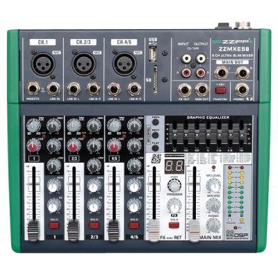 ZZIPP ZZMXE5B - Mixer 5 Canali con DSP e Bluetooth DJ e Karaoke
