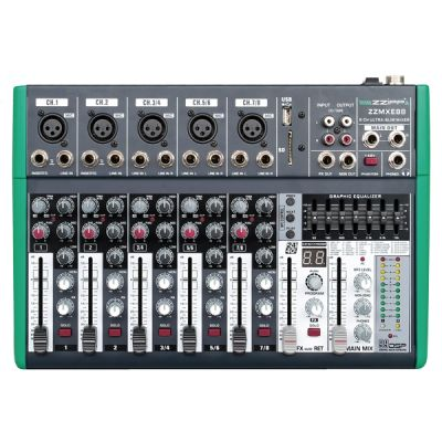 ZZIPP ZZMXE8B - Mixer 8 Canali con DSP e Bluetooth Karaoke DJ