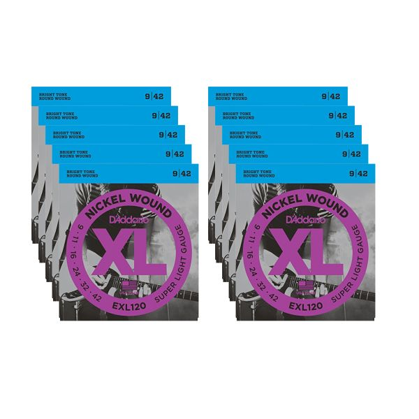 D'ADDARIO 10 EXL120 - Set da 10 Mute Super Light (009-042)