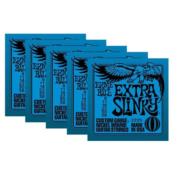 ERNIE BALL 2225 - Set di 5 Mute per Elettrica Extra Slinky (008/038)