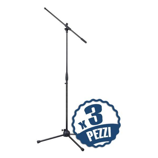 Set di 3 Aste Microfoniche a Giraffa Asta Microfono Regolabili