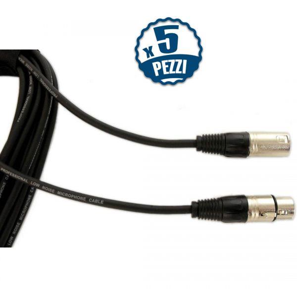 Quiklok Cavo per Microfono Casse Cannon Microfonico segnale 5 cavi da 5 metri