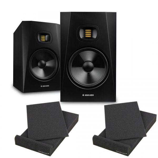 Adam T8V (Coppia) Studio Monitor Attivi Casse Amplificate 50+20watt RMS con Pad isolanti