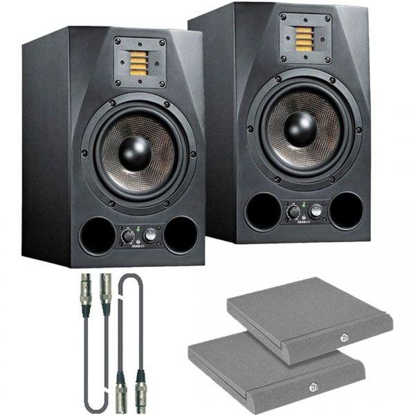 Adam A7X Kit - Coppia Monitor con Cavi e Pannelli Fonoassorbenti