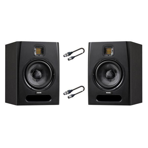 ADAM Coppia Monitor da Studio / Cavi Audio XLR/XLR 5mt Bundle