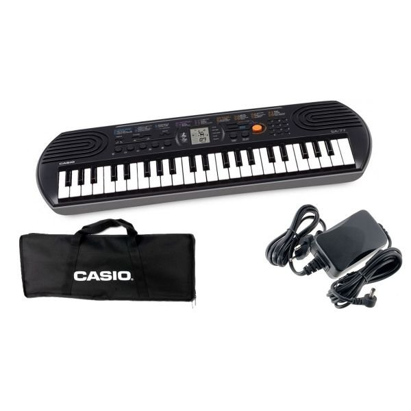 CASIO Set Tastiera SA77 / Minibag / Alimentatore Bundle