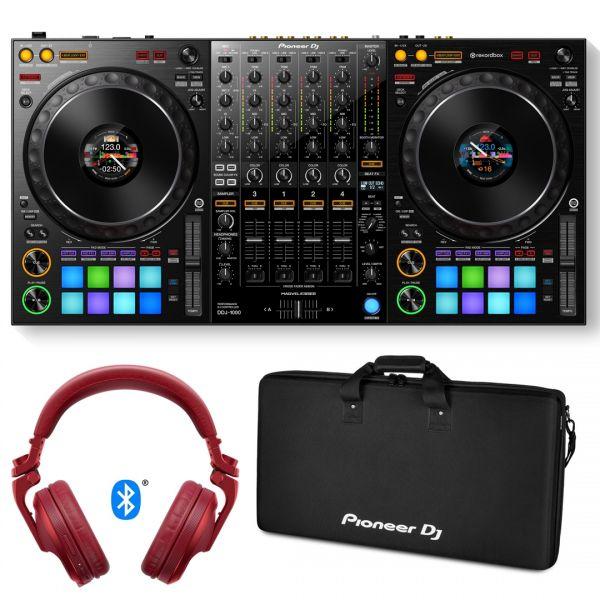 Pioneer DDJ 1000 Console per Rekordbox DJ con Borsa e Cuffie Bluetooth