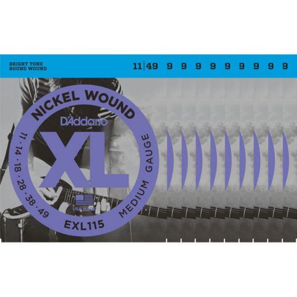 D'ADDARIO EXL115 - Confezione da 10 Mute Medium (011-049)