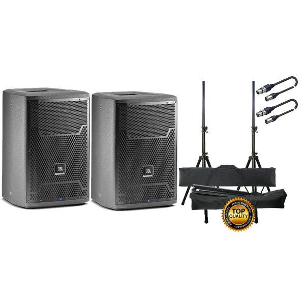 JBL PRX 710 Set Coppia Diffusori Attivi / Coppia Stand / Cavi XLR/XLR 10mt