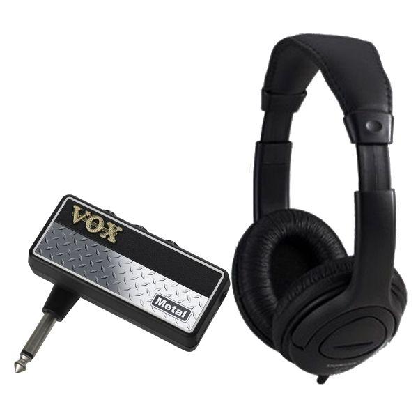 Vox Amplug 2 Metal Bundle - Mini amplificatore a Jack per Chitarra con Cuffia