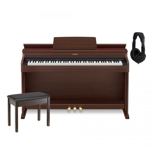 Casio AP 470 Celviano Brown Home Set - Pianoforte Digitale / Panchetta / Cuffie