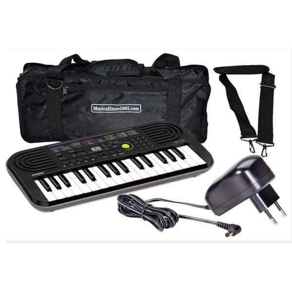 CASIO SA47 Tastiera Elettronica 32 Tasti pianola Scolastica Borsa e Alimentatore