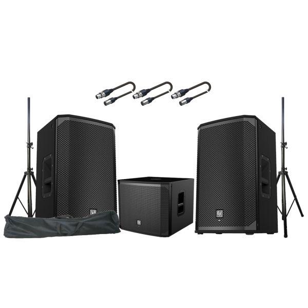 ELECTROVOICE Sistema Audio PA 4100W EKX12P / EKX15SP Subwoofer / Stand / Cavi Audio Bundle
